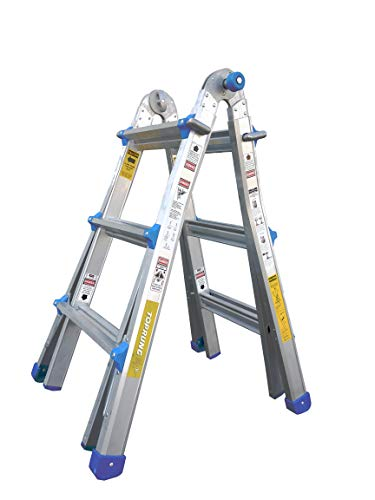 Toprung Foldable Multi-Position Ladder