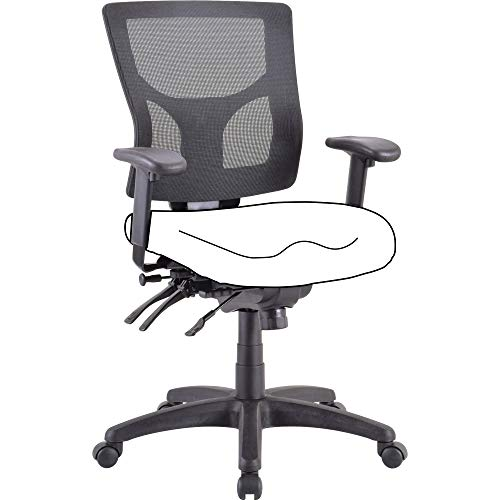 Lorell Mesh Mid-Back Chair Frame, Black