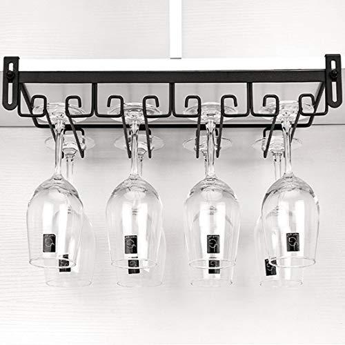 HENG 4 File Porta Bicchieri Sospeso Senza Perforazione Cremagliera del Bicchiere di Vino per Bar, Ristorante, Cucina