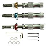 LiMePng 3pcs Tubular Lock Pick. 7 Pins Adjustable Tubular Lock Pick Tools 7.00MM 7.5MM 7.8MM LiMePng
