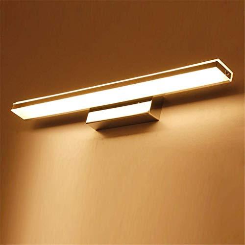 Decoración del hogar Luces de tocador LED cuadradas Cromo cepillado Aluminio LED Espejo Luz frontal 2700-3400k Luz cálida Accesorio de iluminación para baño Lámpara de pared con espejo de maquillaj