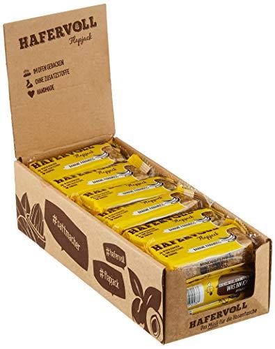 HAFERVOLL Flapjack Banane Paranuss, 18 x 65g Müsliriegel