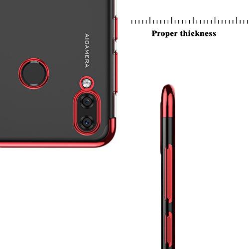 KuGi Honor Play Hülle, Kratzfeste Hülle Honor Play Schutzhülle Soft TPU Case Ultradünn Cover [Slim-Fit] [Anti-Scratch] [Shock Absorption] für Honor Play Smartphone. Rot - 5