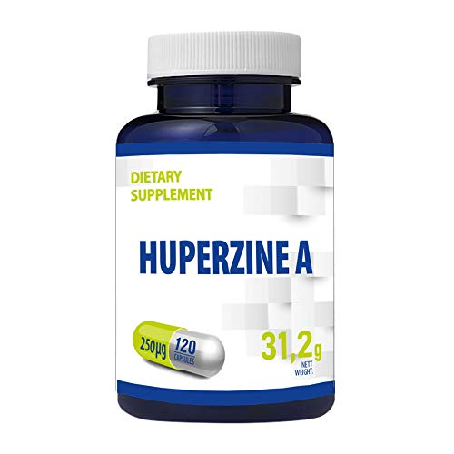 Huperzine A 120 Vegan Capsules 250 mcg Brain Supplement to Promote Acetylcholine, Support Memory and Focus