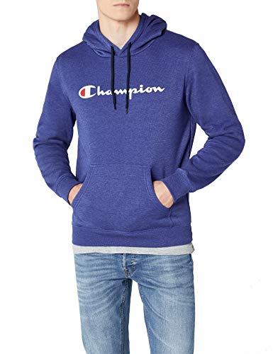 Champion Herren Classic Logo Kapuzenpullover, Blau BZ003, L
