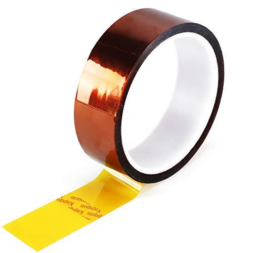 NACTECH Klebeband Hitzebeständig Isolierband Kapton Tape 30mm x 33m Polyimid Elektronik Isolierband Hochtemperatur bis 280°C Abdeckband für 3D Drucker Kabeln Motor