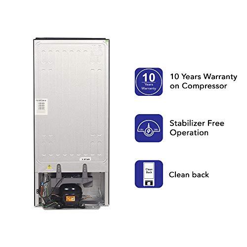 Haier 195 L 3 Star Direct-Cool Single Door Refrigerator (HRD-1953CKS-E, Black Brushline) 6