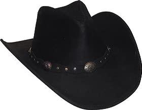 Minnetonka Western Hat Adult Silverton Dude Leather Tan 9611