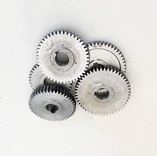 LIXUDECO Engranajes Engranajes de Metal Torno Engranajes Mini Torno Engranajes Torno Accesorios. (Hole Diameter : 12mm, Number of Teeth : 30 Teeth)
