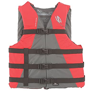 Stearns Adult Watersport Classic Series Life Vest, Red