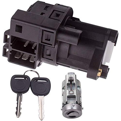 Ignition Starter Switch + Ignition Lock Cylinder w/2 Keys Fits for Chevy Malibu Impala Olds Alero Pontiac Grand Am Repalces OEM 12458191 22599340 10008s