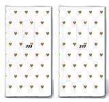 20 Taschentücher (2x 10) Kleine Herzen gold/Herzen/Hochzeit/Freudentränen