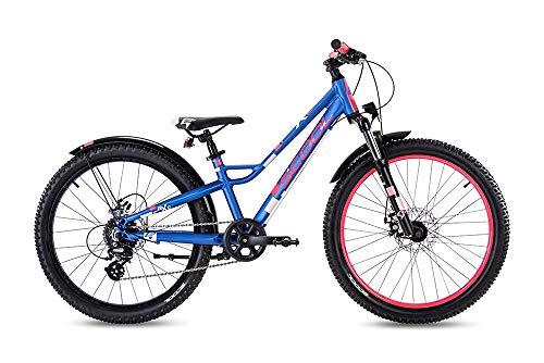 S'cool faXe Alloy 24 8-S Kinderfahrrad Jugendrad Blue/pink matt 7286