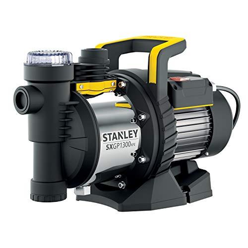 Stanley SXGP1300XFE Pompa Autoadescante per Acque Chiare (1300 W, Portata max. 4.200 l/h, Prevalenza max. 50 m)
