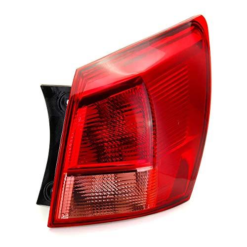 Wooya Luz Trasera De La Cola Trasera Exterior del Vehículo Rojo Izquierda/Derecha Sin Mazo De Cables De La Bombilla para Nissan Qashqai 2007-2010 - Derecho