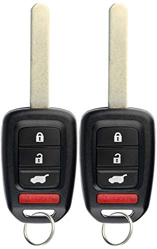KeylessOption Keyless Entry Remote Fob Uncut Car Key for Honda CR-V 2017-2019 MLBHLIK6-1TA (Pack of 2)