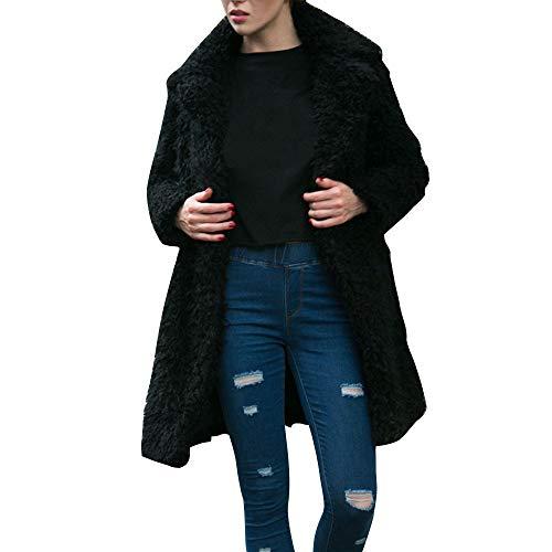 Warmer Dicke Wintermantel Damen Fleecejacke Parka Wildlederjacke Oversize lose übergroße Lange Jacke Mantel Outwear College Jacke Outdoor Übergangsjacke URIBAKY