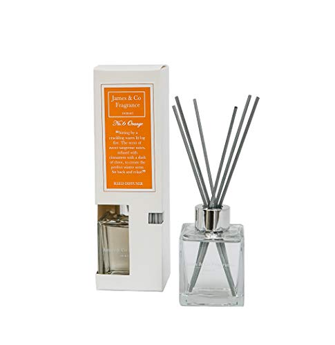James & Co No. Lot de 6 diffuseurs de parfum Orange (orange et cannelle) 100 ml