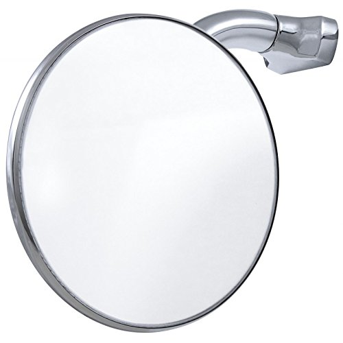 """3/"""" Chrome Curved Arm Peep Side Door Glass Mirror Outside Rear View Hot Rat Rod"""