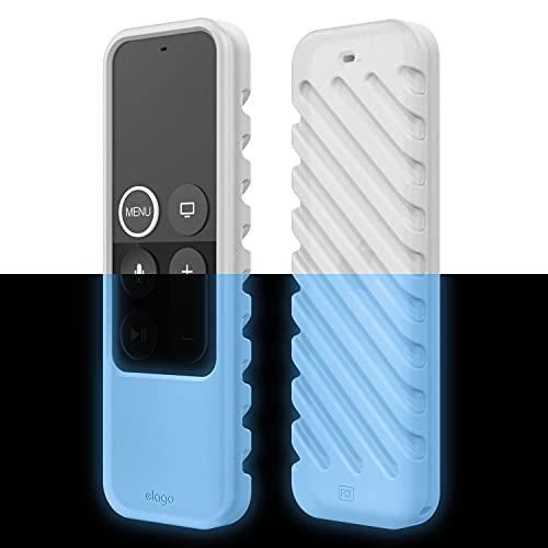 elago R3 Fernbedienung Hülle Hülle Kompatibel mit Apple TV Siri Remote 4K (5.) / 4. Generation Schutzhülle - Extra Schutz, Handgelenkschlaufe Inbegriffen (Nachtglühendes Blau)