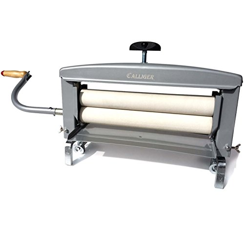 Calliger Hand Crank Clothes Wringer 14' Rollers - More Space to Wring Than Any Other Brand | Manual Off Grid Laundry Dryer | Perfect for Clothing, Towels, Chamois, Tile Grouting Sponges