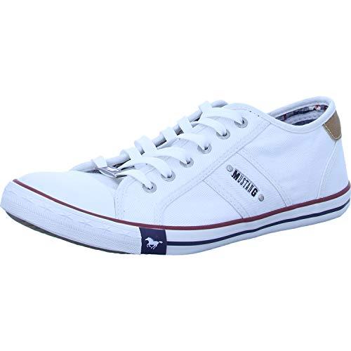 Mustang Herren 4058-305-1 Sneakers, Weiß (weiß 1), 46 EU