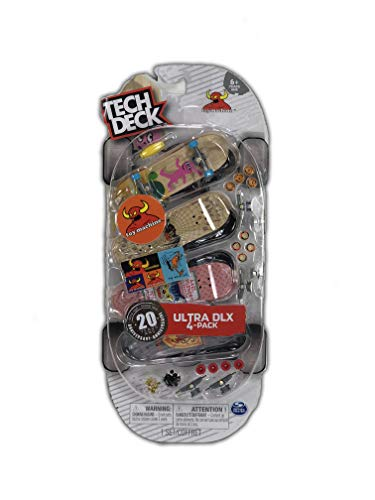 Tech Deck Ultra DLX 4 Pack 96mm Fingerboards - Toy Machine 20th Anniversary Special Edition