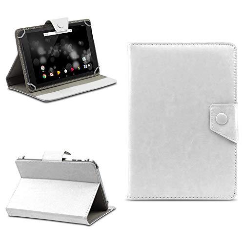 na-commerce Tablet Tasche für TrekStor Primetab P10 Schutzhülle Hülle Case Schutz Cover Etui, Farben:Weiss