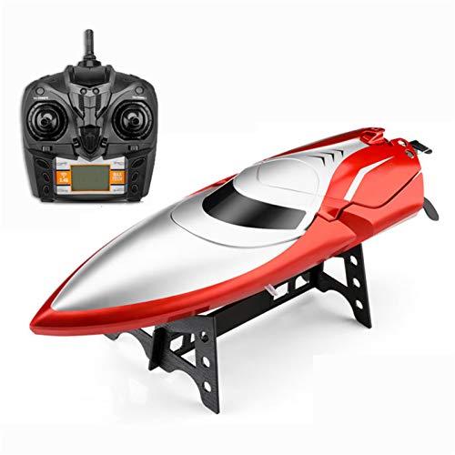 AFYH Remoto Barcos, Barcos de radiocontrol Barco de Carreras RC de Alta Velocidad 2.4G 4CH 28KM / H con Interruptor de Modo Autoadrizamiento para Piscinas y Lagos Juguete acuático