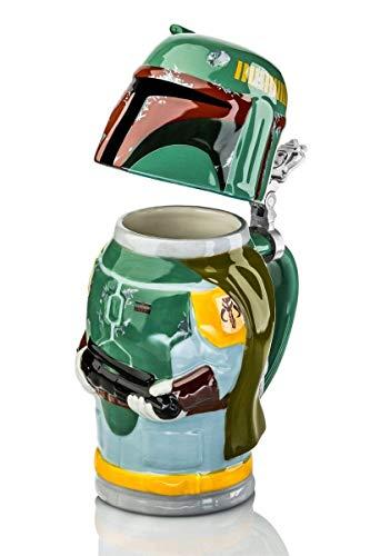 Star Wars SW01635 Boba Fett Beer Mug, Ceramic, 8x8x10 cm, Green