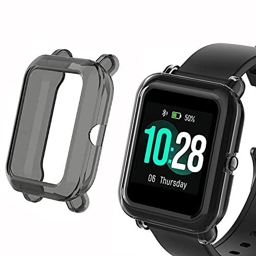 SkyBand TPU Silicona Fundas Compatible para Reloj Inteligente ID205L (Negro)