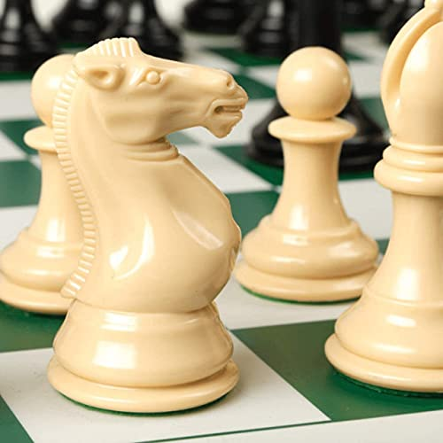 """Best Chess Set Ever Quadruple Weighted XL Tournament Style Chess Set with Exclusive Chess Strategy Guide — 20"""" x 20"""" Silicone Board + Extra Heavy Staunton Chess Pieces"""