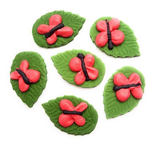 12brillante ROSA MARIPOSAS comestibles decoración para tarta para a