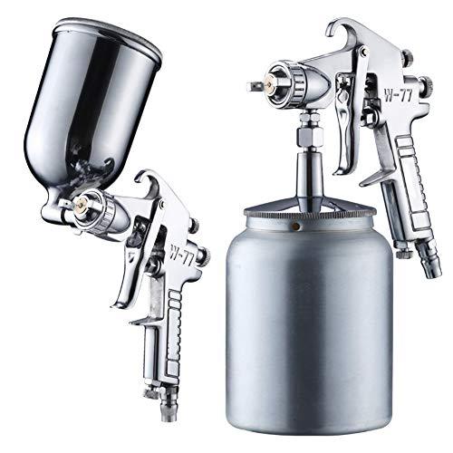 Pistola de pulverización neumática Boquilla de calibre de 2,0 mm Herramienta de pulverización de coche / muebles para proyectos de artesanía de bricolaje de coche / Pulverizador de pintura,Lower pot