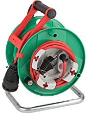 Brennenstuhl Garant G Bretec IP44 Tuinkabelhaspel (Kabelhaspel Voor Grasmaaiers Met 23 + 2 m Kabel, Speciale Kunststof, Voor Kortstondig Gebruik Buitenshuis, Groen)