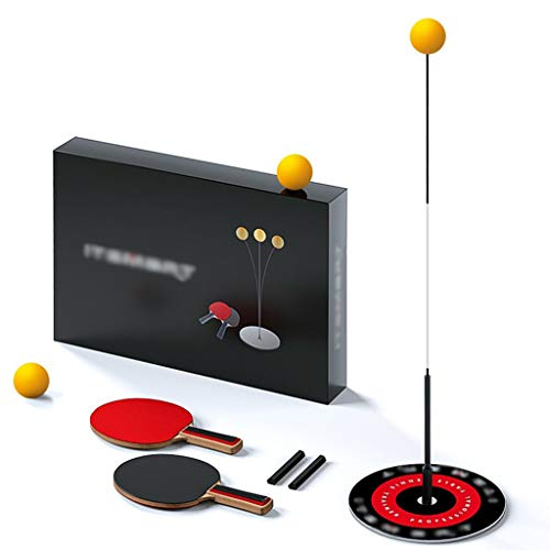 Best Buy! ADKINC Portable Table Tennis Trainer Set, with Elastic Soft Shaft, Table Tennis Training R...