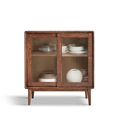 Feixunfan Aparador Aparador Moderno Minimalista Mueble de Tea Cocina DE Cocina DE Almacenamiento Armario nórdico Cabina de Vino de Roble para el Pasillo de la Sala de Estar