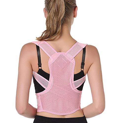 DJDLLZY Orthopädische orthopädische Einlegesohlen für Erwachsene, kann Nacken- und Rückenschmerzen lindern, komfortable, verstellbare Rückenstütze, Größe XS