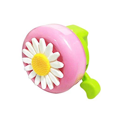 Clear & Loud Fahrrad Fahrradklingel Hörner Mädchen Kinder Daisy Radfahren Alarm Ring(Rosa grün)