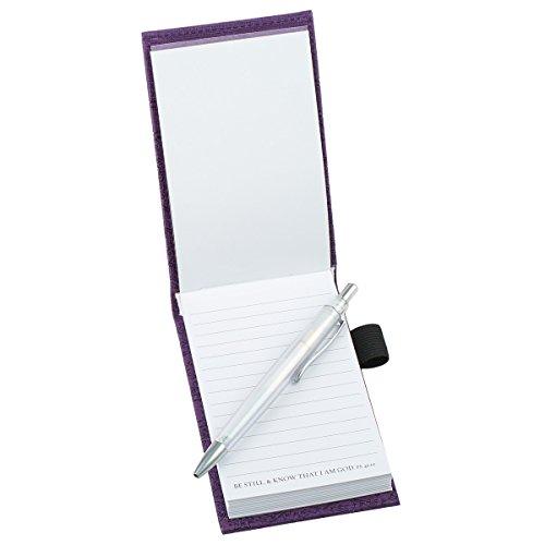 """Purple """"Trust"""" Pocket Notepad w/Pen - Psalm 46:10 Photo #2"""