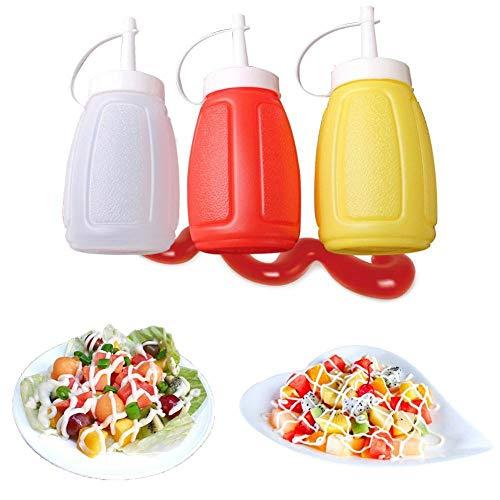 Boner Small Plastic Squeeze Sauce Flasche Tomatensalat Dressing Flasche Sahne Marmelade Salatflasche Kitchen Seasoning Squeeze