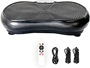 Pinty Fitness Vibration Platform - Whole Body Vibration Machine Crazy Fit Vibration Plate with Remote Control and Resistance Bands(Black)