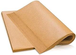 Parchemin Papier Cuisson en Feuilles 100 Pièces 30x40cm Antiadhésif Marron Non Blanchi pour Haute Température de Cuisson (...