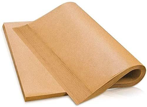 AWKAQUN Carta Forno Riutilizzabile - 100 Pezzi Fogli in Formato 30x40cm - Carta Forno siliconata su Entrambi i Lati, Antiaderente, Impermeabile, Resistente al Calore (Yellow, 30 * 40)