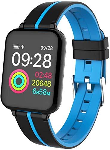JSL Reloj inteligente IP67 resistente al agua, monitor de ritmo cardíaco, varios modelos de actividad deportiva, reloj inteligente para hombres y mujeres, para Android, iOS - azul