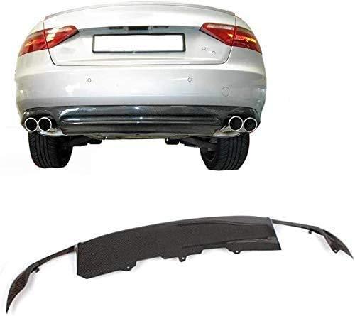 ABABABA Difusor Apto para Audi A5 Base 2 Puertas Pre-Facelift 2008-2011 PU Kit De Carrocería De Alerón De Labios De Parachoques Inferior, Fibra De Carbono