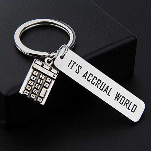 MAOFAED Accountant Gift Calculator Keychain It's Accrual World Bookkeeper Keychain CPA Graduation Gift (It's Accrual World)