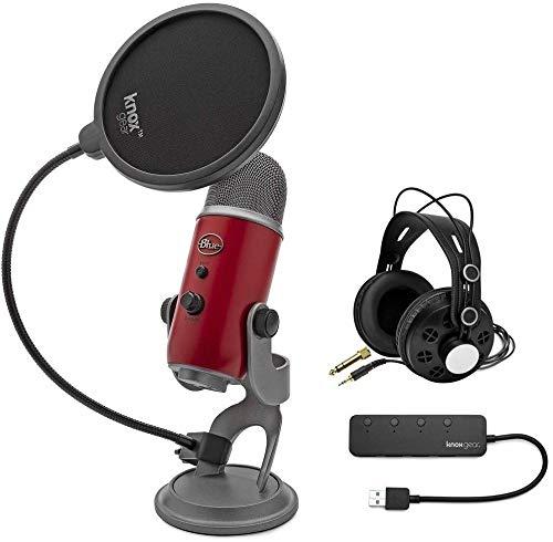 Blue Yeti USB Microphone (Red) bundle