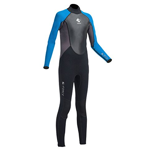 Gul G-Force Kids jeugd Junior 3 3MM Flatlock wetsuit met Back Zip in zwart Zafer - 100% D-Flex-panelen voor duurzaamheid
