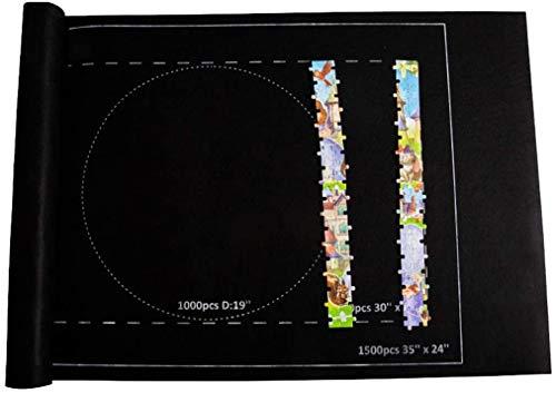 """Puzzlematte Puzzle Roll Storage Mat Puzzlerolle für Bis 1500 Teile, 46\""""X 26\"""" Filz Tragbare Puzzleunterlage Puzzleteppich Puzzle Sparer"""